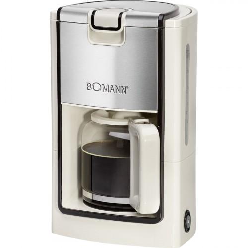 Bomann Cafetera 8-10 Tazas KA 1565 Crema